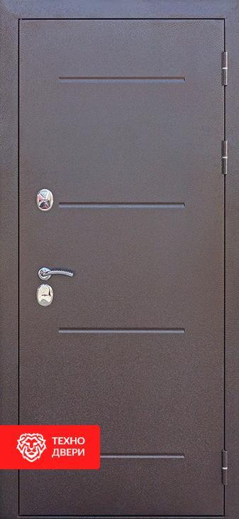 Дверь с терморазрывом темно-коричневый / МДФ фрезерованная патина и лак, 27656 внешняя сторона