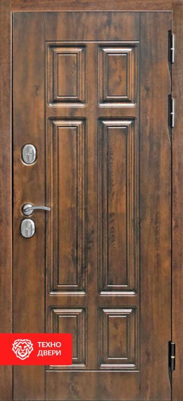 Дверь с терморазрывом темно-серыйк / МДФ под массив, 27658 внутреняя сторона