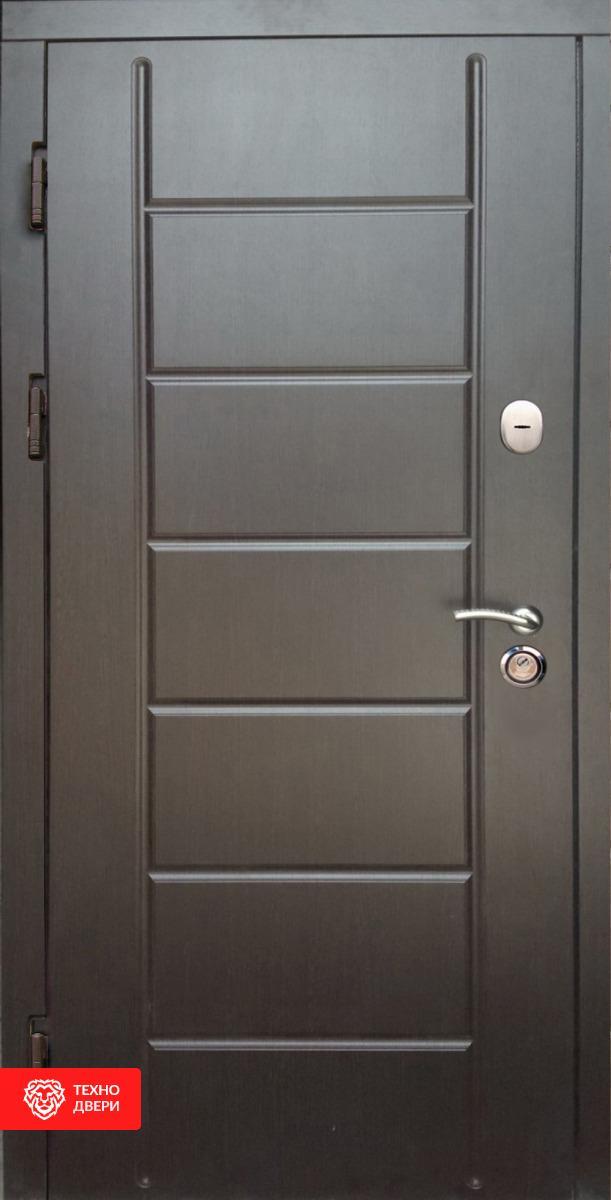 Дверь с горизонтальным рисунком, белая внутри, 27852 внешняя сторона