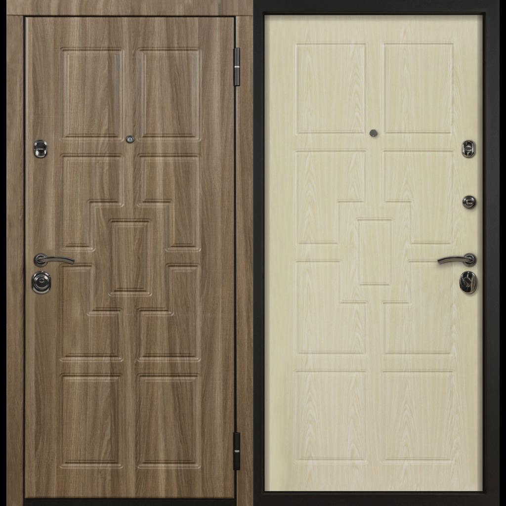 Дверь с терморазрывом МДФ чвенге/МДФ дуб беленый, 276876