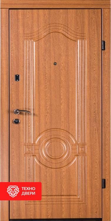 Дверь эконом МДФ венге,  белый, 654174 внешняя сторона