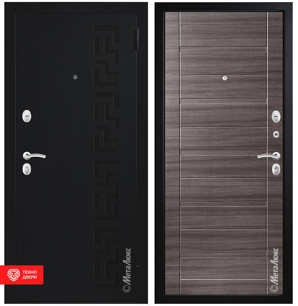 Дверь Металл МДФ рис.Греция, Дуб серый, 27966