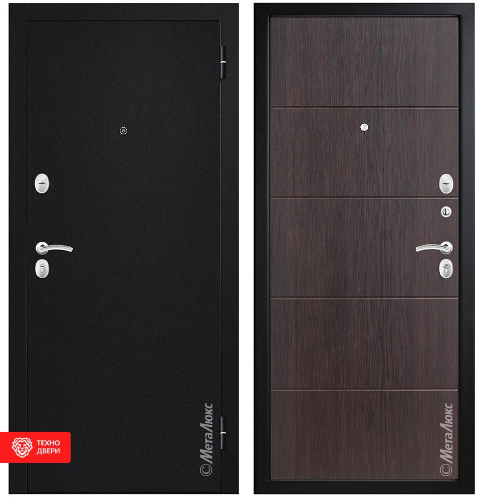 Дверь МДФ черный / венге , 27958