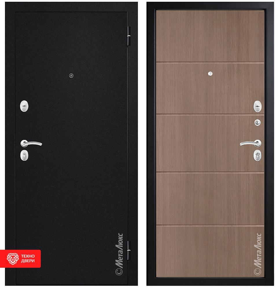 Дверь МДФ черный однотонный / капучино, 27959