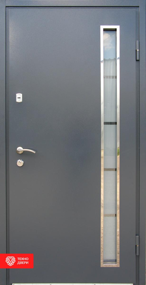 Дверь Металл/МДФ со стеклопакетом, 27564 внутреняя сторона