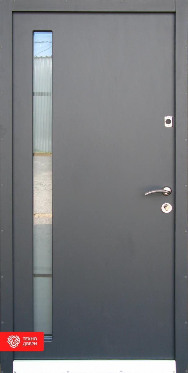 Дверь Металл/МДФ со стеклопакетом, 27564 внешняя сторона