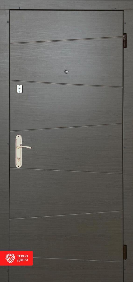 Дверь МДФ Модерн рисунок Полосы / МДФ бетон светлый, 28087 внешняя сторона