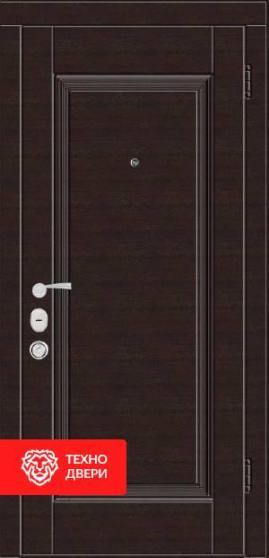 Дверь МДФ с рисунком Классика коричневая с двух сторон, 22234 внутреняя сторона