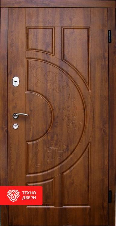 Дверь шпон натурального дуба с фрезеровкой, 21743