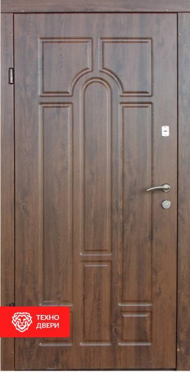 Дверь полуторная под дерево рисунок Арка, 21426 внутреняя сторона
