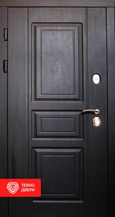 Дверь в дом чёрная-белая стиль Прованс, 22064 внешняя сторона