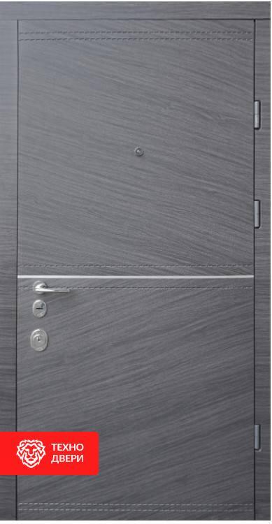Дверь МДФ графитового цвета рисунок Горы, 100027 внешняя сторона