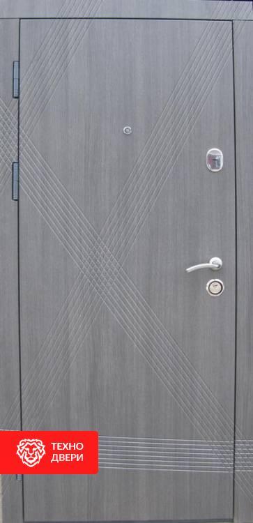 Дверь МДФ серый рисунок Диагональ, 21741 внешняя сторона