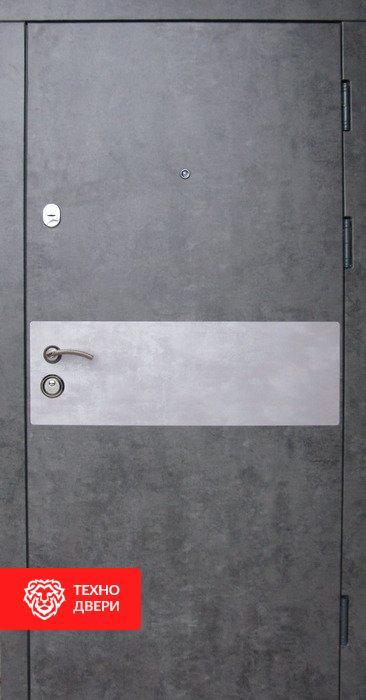 Дверь Премиум МДФ серый бетон, белый, 24207 внешняя сторона