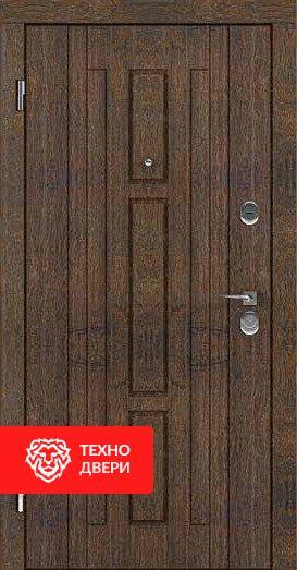 Дверь МДФ в цвете дуб коньячный / белая внутри, 24182 внешняя сторона