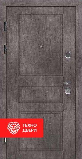 Дверь МДФ бархатный серый рисунок Классика, 24198 внешняя сторона