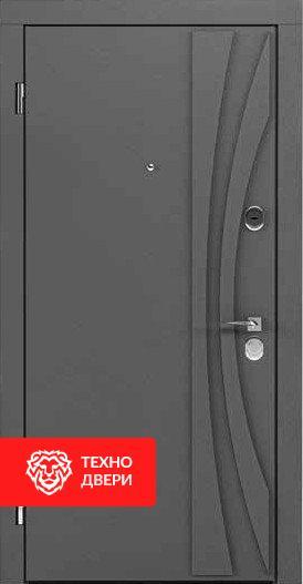 Дверь утепленная усиленная металл и МДФ, 24184 внешняя сторона