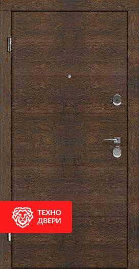 Дверь с ламинацией Дуб коньячный / Серебряный бархат, 23977 внешняя сторона