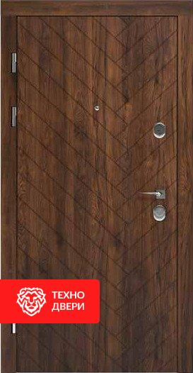 Дверь спил дерева Дуб красный / Белая, 24201 внешняя сторона