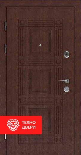 Дверь металл Медь матовая / Чёрное напыление, 24202 внешняя сторона
