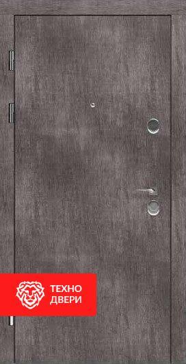 Дверь серый бархатный МДФ / молочный капучино, 24194 внешняя сторона