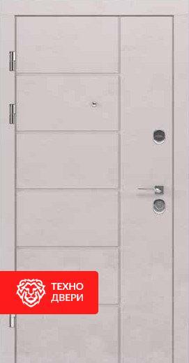 Дверь МДФ с рисунком Ромбы Бежевая / Венге, 24188 внешняя сторона