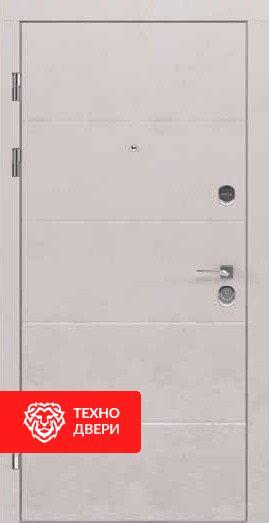 Дверь МДФ с рисунком Горизонтальные линии Светло серая / Бежевая, 24191 внешняя сторона
