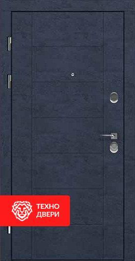Дверь МДФ Модерн Тёмно серая / Венге, 24190 внешняя сторона