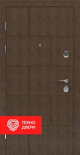 Дверь усиленная утепленная Коричневый Винорит / Капучино, 24203 внешняя сторона