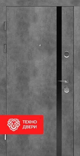 Дверь МДФ Бетон серый / Молочный, 24199 внешняя сторона