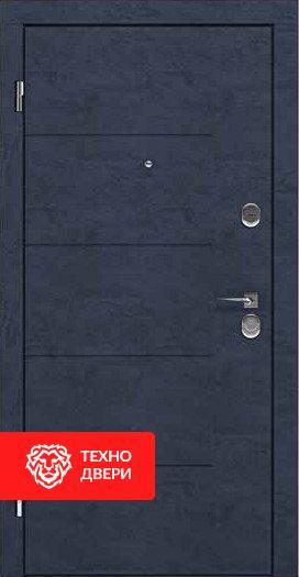 Дверь металлическая серый и бежевый шагрень, 24181 внешняя сторона