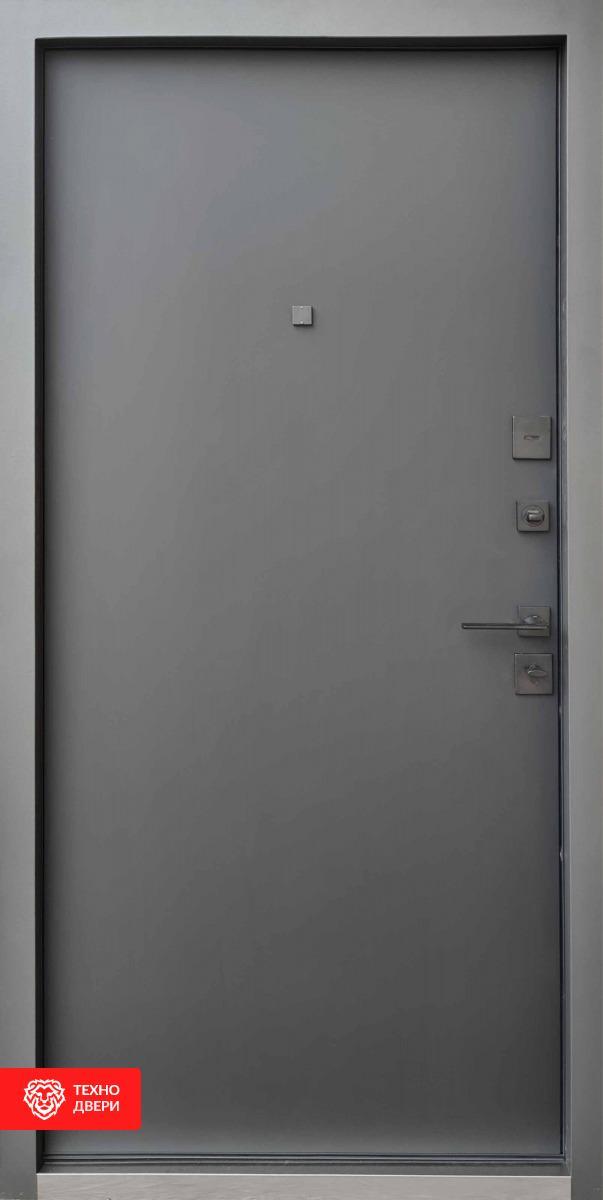 Дверь МДФ накладка серый цвет рисунок Квадро, 100028 внутреняя сторона