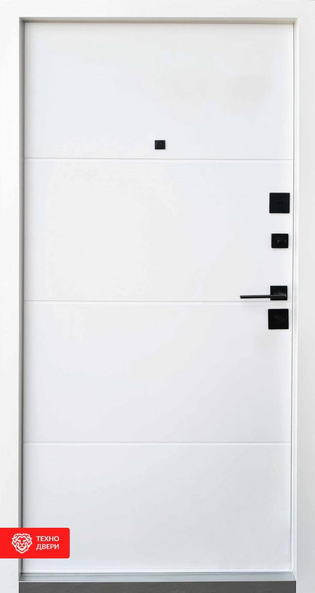 Дверь МДФ дуб красный декор лакобель / МДФ белый, 28229 внутреняя сторона