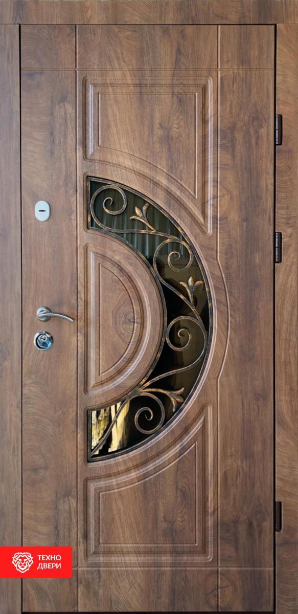 Дверь с ковкой и терморазрывом Венге, 27943 внешняя сторона