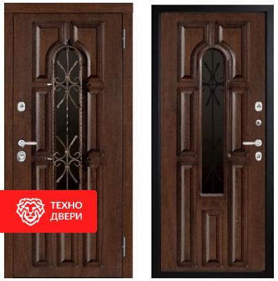 Дверь винорит пленка ПВХ со стеклопакетом и ковкой , 28093