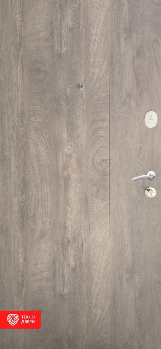 Дверь утепленная МДФ под срез дерева, 27853 внутреняя сторона