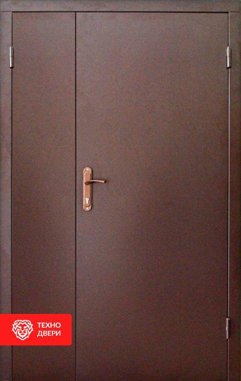 Дверь полуторная техническая металл медный, 21454