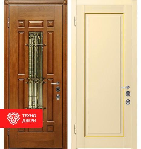 Дверь с терморазрывом венге и беленный дуб, 452301