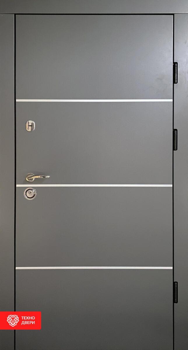 Дверь МДФ Винорит Серая Модерн, 27946 внешняя сторона