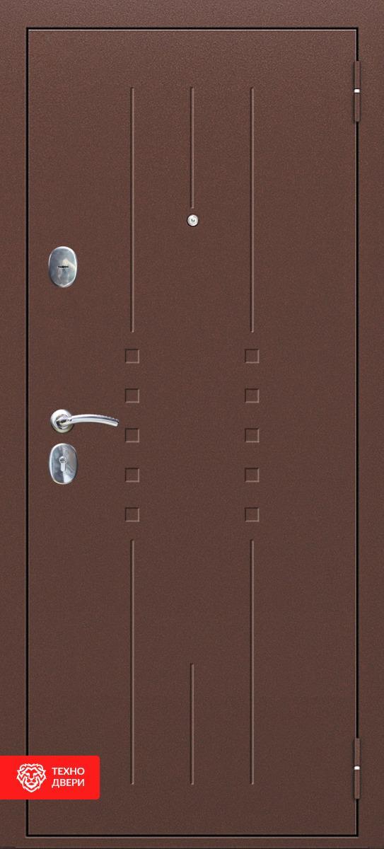 Дверь с терморазрывом МДФ фрезерованная Тёмно-коричневый / Слоновая кость, 27657 внешняя сторона