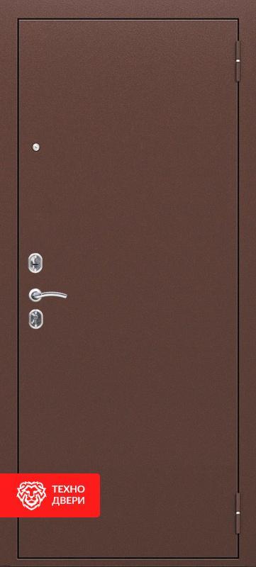 Дверь с терморазрывом коричневый / МДФ с черными стеклами лакобель, 27681 внешняя сторона