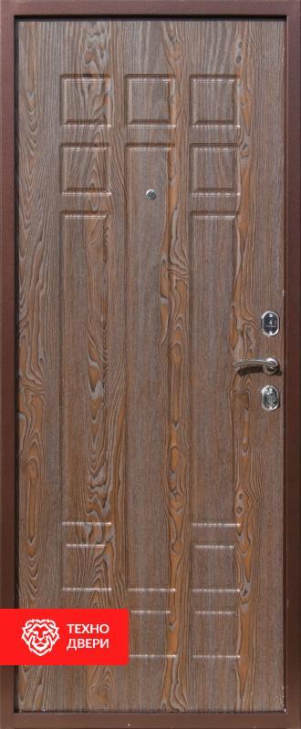 Дверь с терморазрывом темно-коричневый / МДФ  шоколадный дуб, 27679 внутреняя сторона