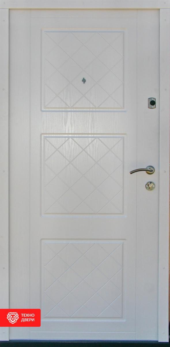 Дверь отделка МДФ с двух сторон рис.Клетка, 10017 внутреняя сторона